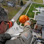 The Great Pumpkin Drop in Marysville, OH benefits Blessings in a Backpack.