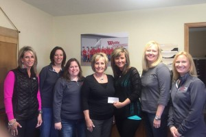 From L to R: Angie Wolfe, Deb Dorris, Amanda Emmerich, Terri Wolfe, Casey Wolfe, Kelsey Weber and Kendra Franklin.