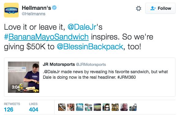 Dale Jr Tweet
