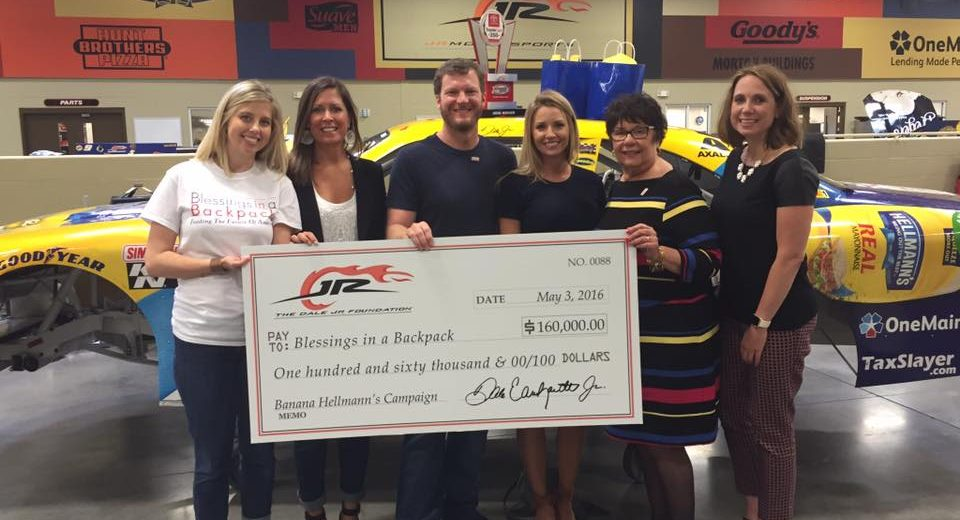 Dale Jr Check Presentation