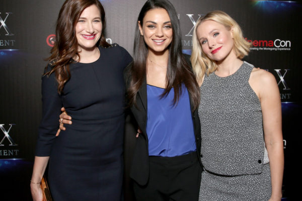 Stars of Bad Moms: Kathryn Hahn, Mila Kuniz, and Kristen Bell