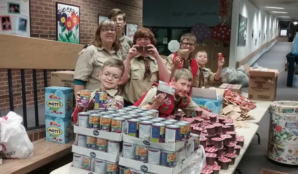 Scouts Team Up with Blessings in a Backpack Food Program