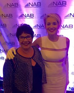 Sharon Stone with Blessings in a Backpack CEO Brooke Wiseman