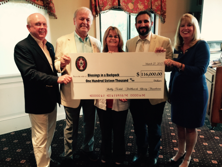 Bobby Nichols Foundation donates $116k to Blessings in a Backpack