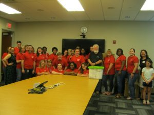Honda employees packed 500 bags for children packing event in Wilmington, DE.
