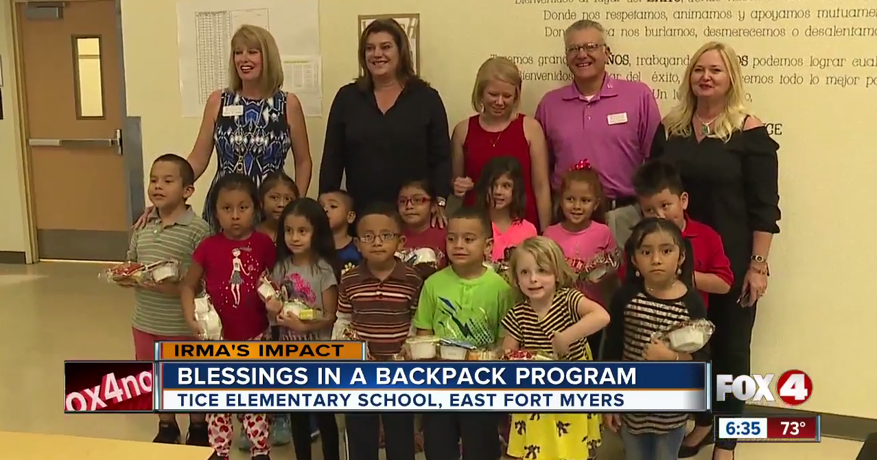 Blessings in a backpack for Tice Elementary School