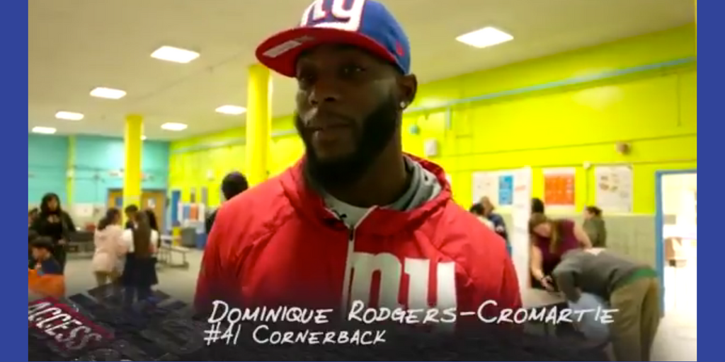Dominique Rodgers-Cromartie hosts Blessings in a Backpack Event