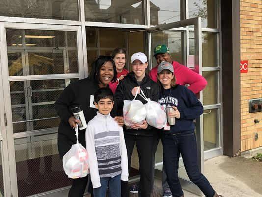 Engelhard teachers deliver food