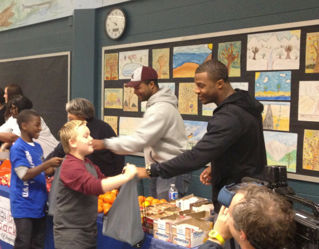 Randall Cobb's working with Blessings to help children have healthy meals