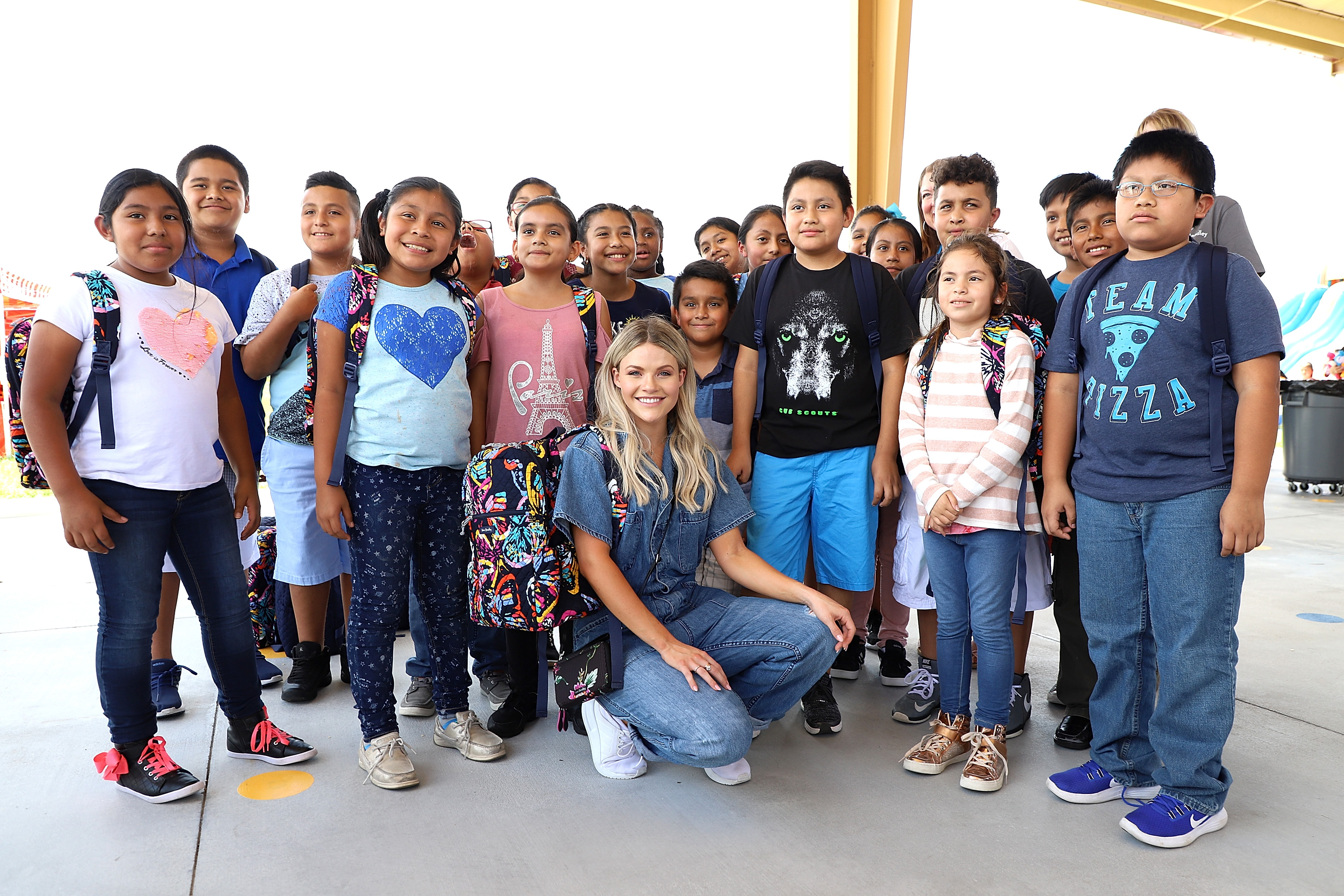 Tice Elementary School students get blessings, Vera Bradley backpacks and a day of fun