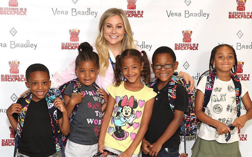 Vera Bradley and Shawn Johnson East Surprise Chicago Kids with Backpacks