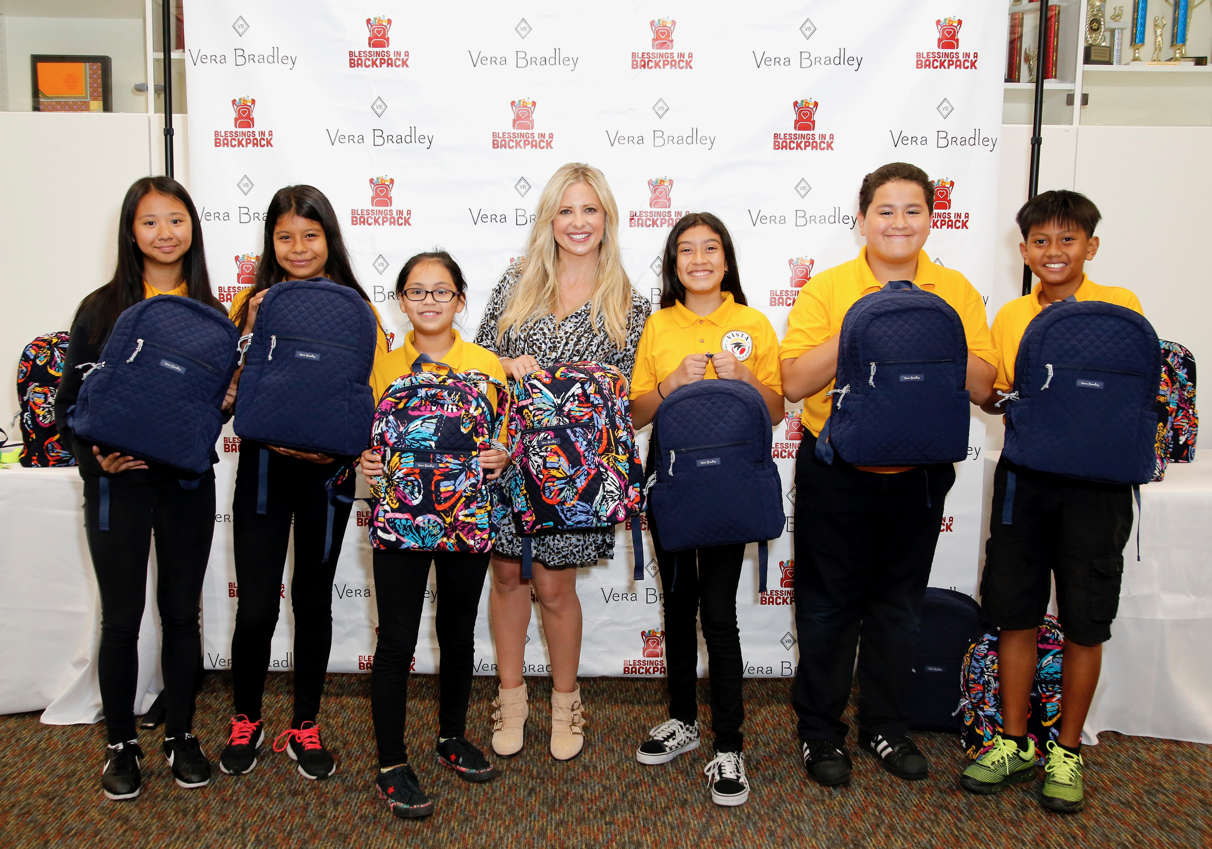 Sarah Michelle Geller Co-Hosts Vera Bradley and Blessings in a Backpack Event