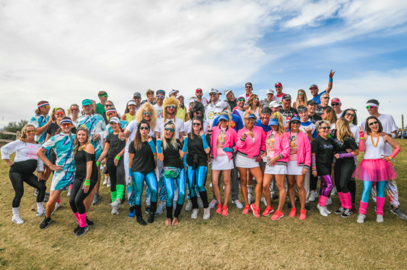 PGA TOUR wives hit TPC Scottsdale for charity, embrace 'hilarious' 1980s theme
