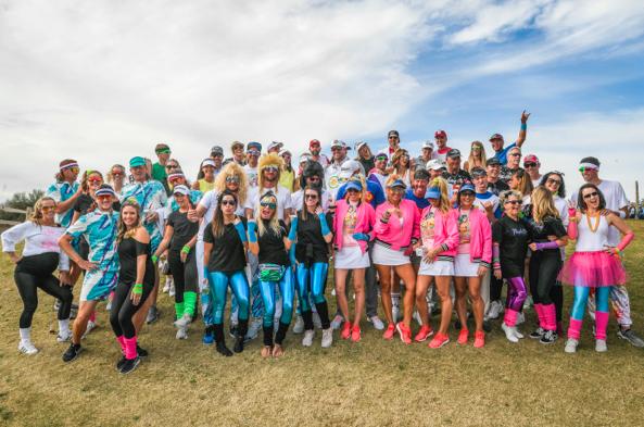 PGA TOUR wives hit TPC Scottsdale for charity, embrace 'hilarious' 1980s theme
