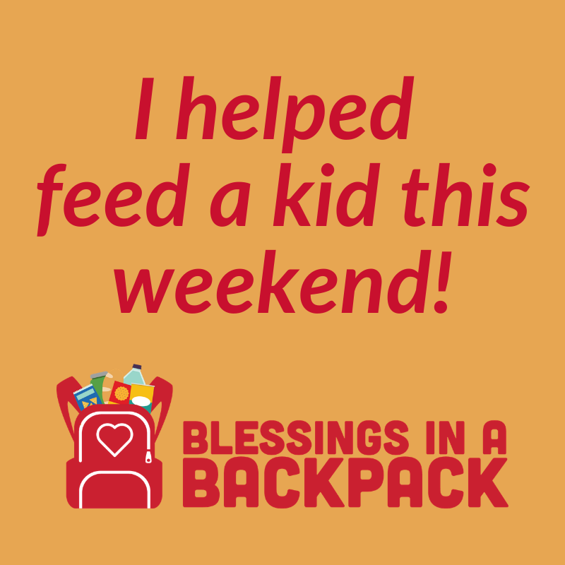Picture with text I helped feed a kid