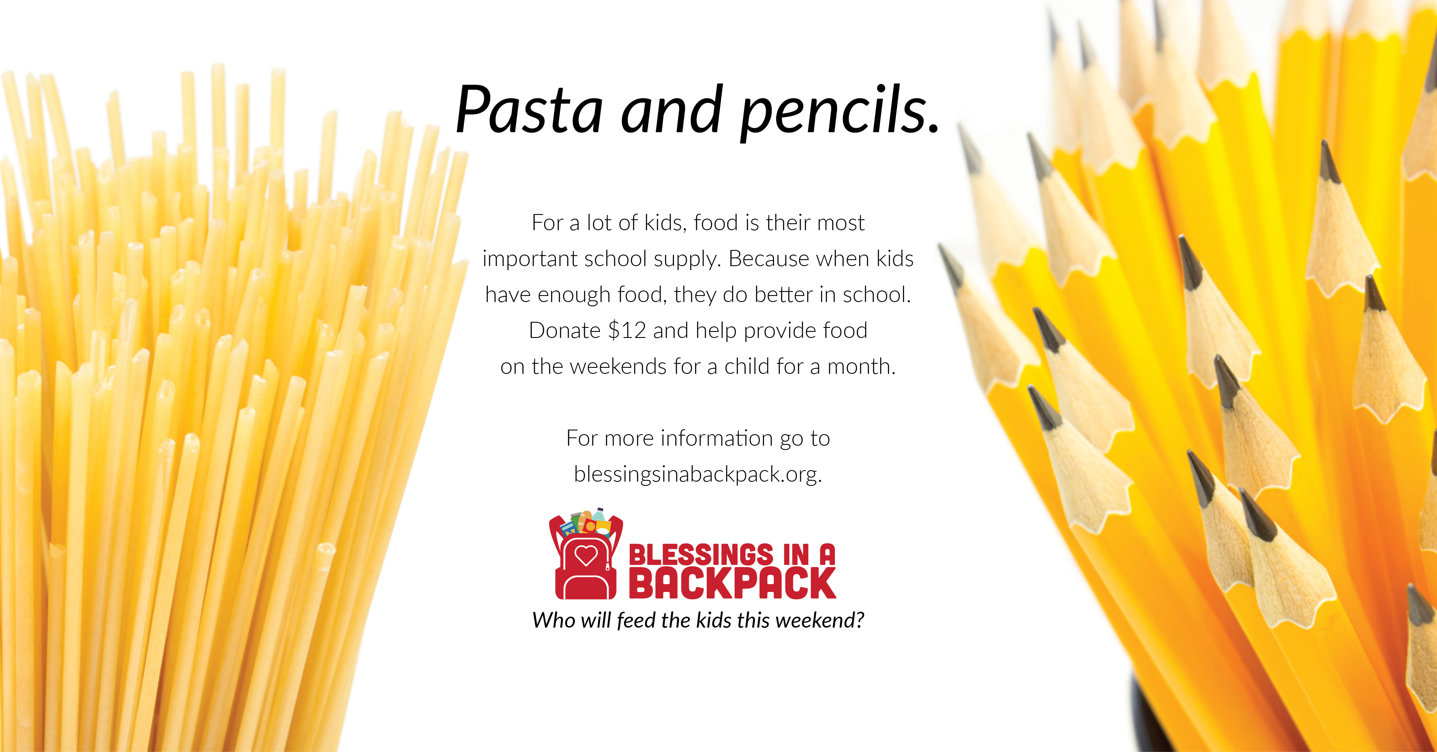 Pasta and Pencils