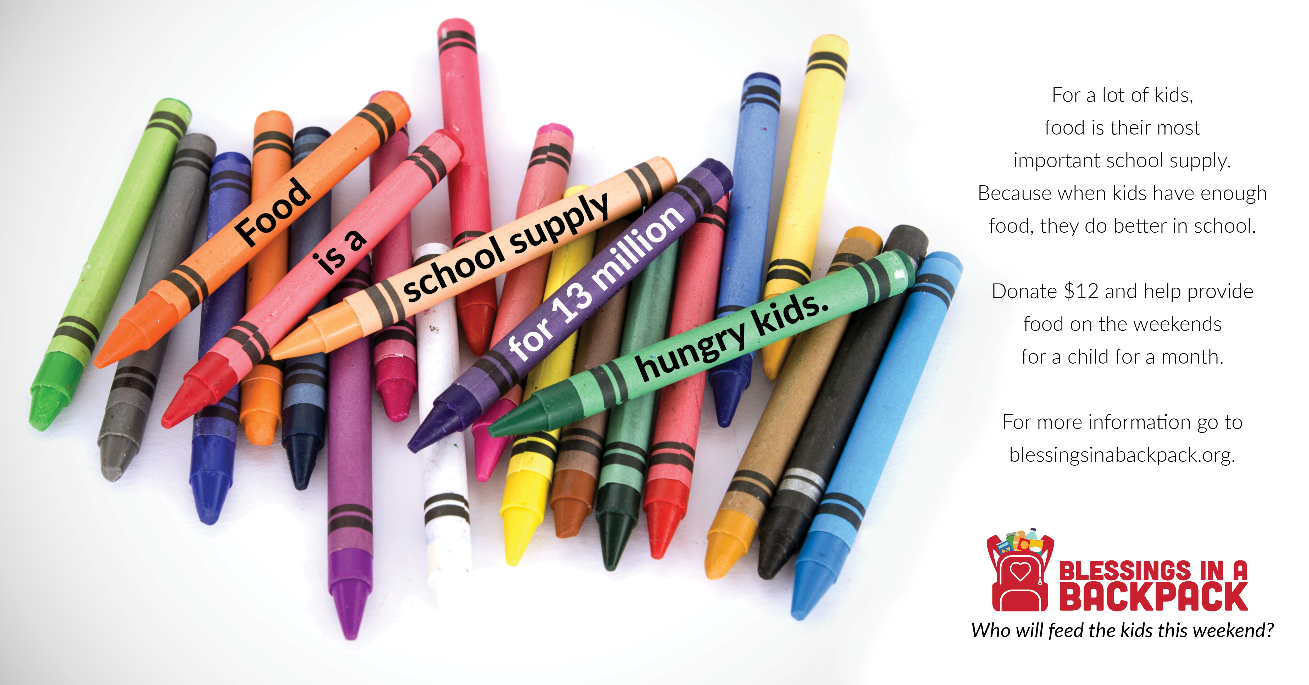 Food is a school supply for 13 million hungry kids