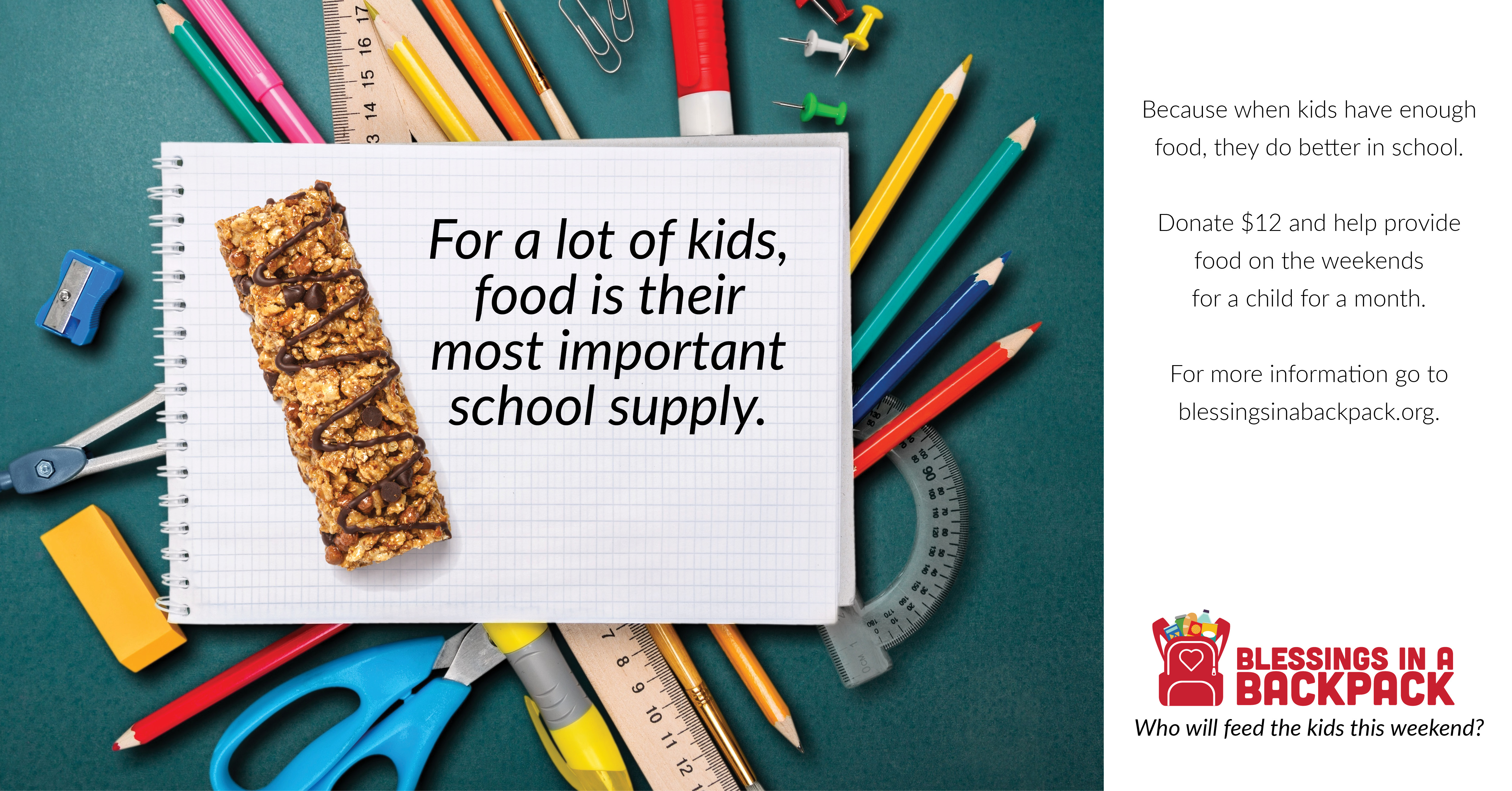 For a lot of kids food is the most important school supply