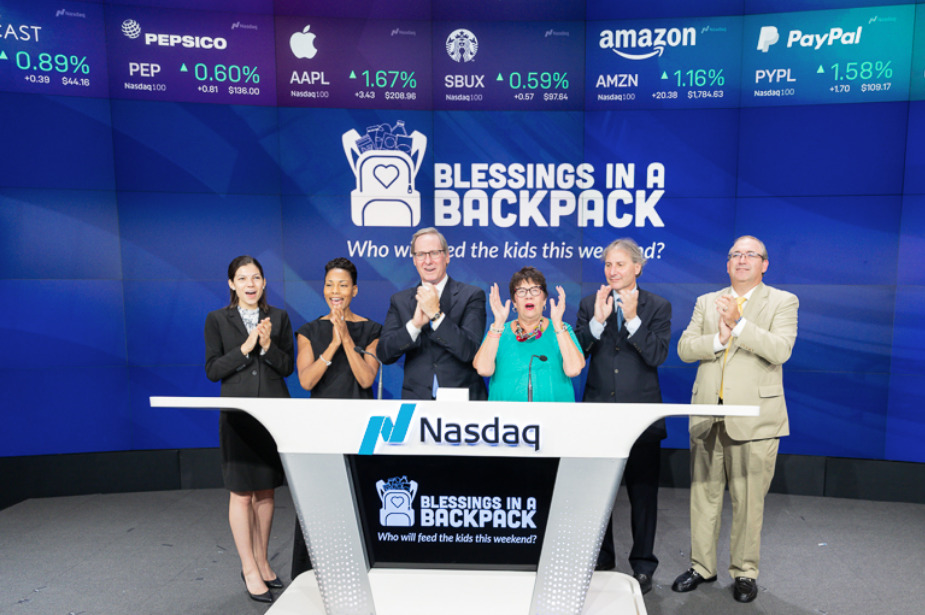 Blessings in a Backpack Rings the Nasdaq Closing Bell