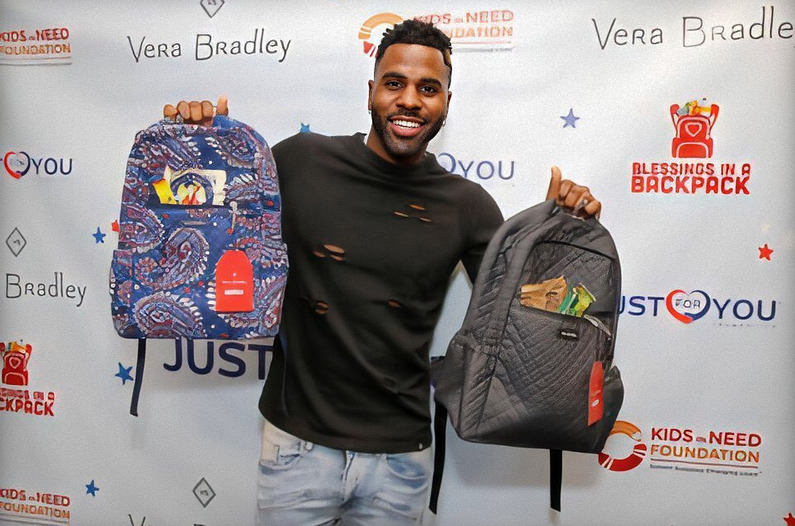 Jason Derulo's 'Just For You Foundation' Hosts Backpack Build with Blessings in a Backpack + Vera Bradley