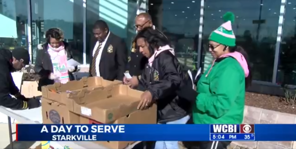 Greek Organizations Give Back During Blessings in a Backpack Donation Drive