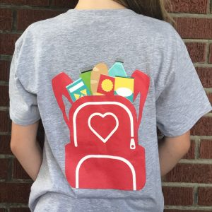 Back of the Kids Blessings in a Backpack shirt