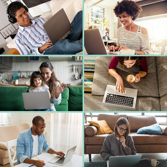 Photo of different people on their computers