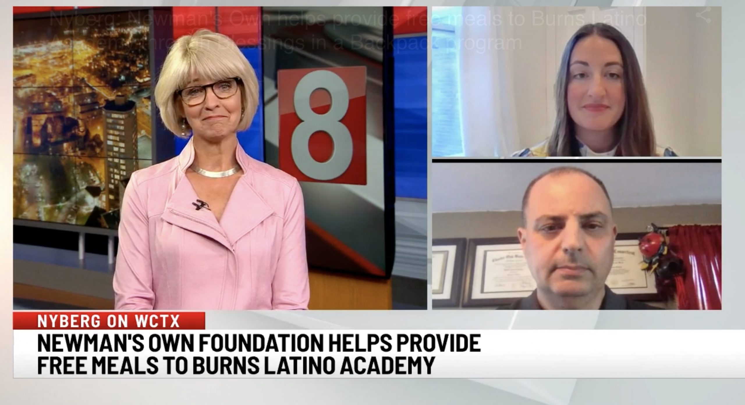 Newman's Own helps provide free meals to Burns Latino Academy through Blessings in a Backpack