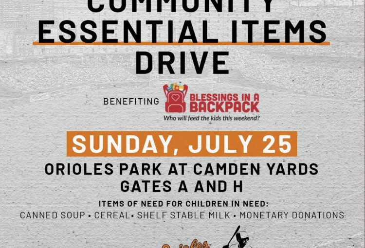 Community essential items drive hosted by the Baltimore Orioles and Trey Mancini Foundation