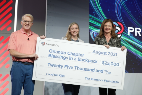The Primerica Foundation Donates $25,000 to Blessings in a Backpack Orlando Chapter